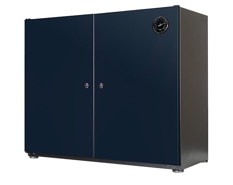 Heated dry cabinet for filaments and electronics