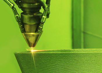 Laser sintering machine for metal. Metal is sintered under the action of laser into shape. DMLS, SLM, SLS. Modern additive technologies 4.0 industrial revolution