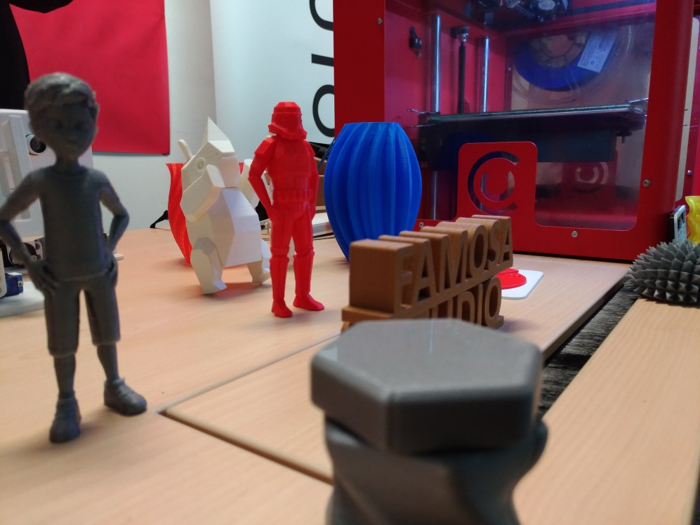 Objects printed with a 3D printer