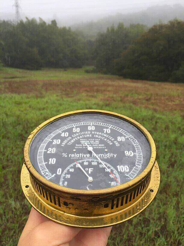 Measuring humidity with a hand-held hygrometer
