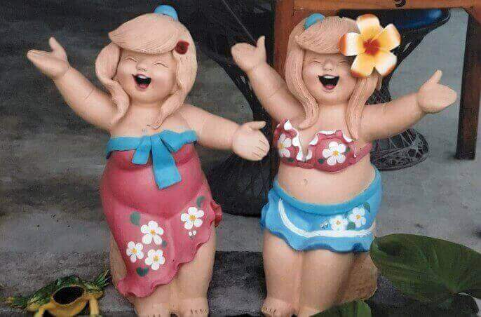 Cute statues seen in Hua Hin Thailand.