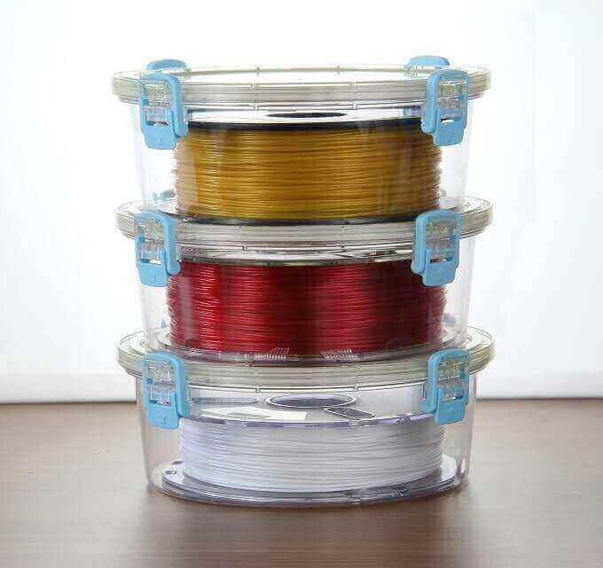 The PrintDry filament storage container.