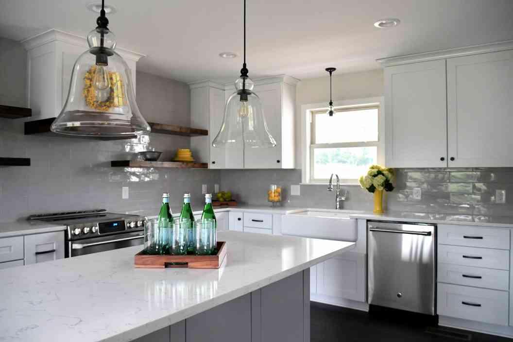 Modern kitchen design in new house